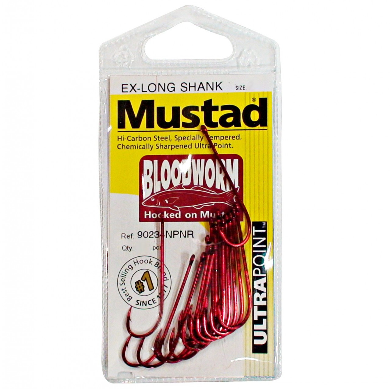 Image of Mustad Bloodworm Long Shank Hooks Single Pack