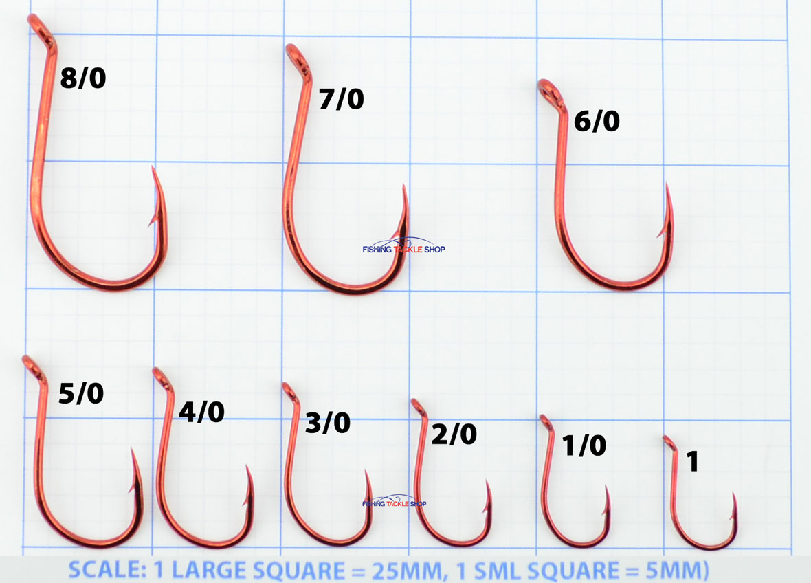 Mustad Big Red Hook Sizes