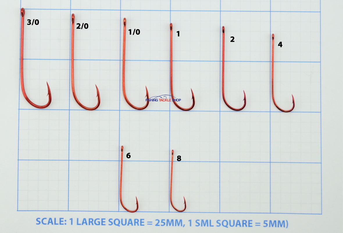 Mustad Bloodworm Hooks Sizes